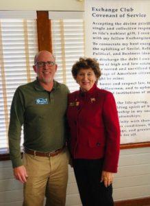 Paul Williamson and MargieMiller, Exchange Club of Sebastian Florida