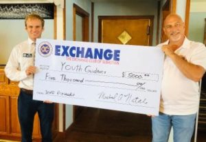Blue Water Open, Sbatian Exchange, Charity giving, Exchange supports youth guidance