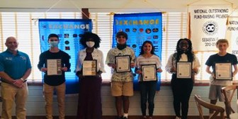 exchange club of sebastian, students of the month , october 2020