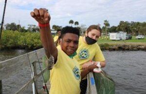 Blue Water Open Fishing tournament for kids, sponsored by Sebastian Exchange Club