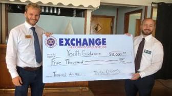 Exchange CLub of Sebastian, blue water open hosts, giving to community of sebastian